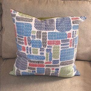 Multi Colored CB2 (Crate & Barrel) Pillow